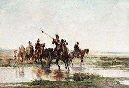 Horsemen, c.1855/57 von Alberto Pasini | Gemälde-Reproduktion