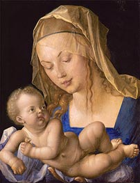 Virgin and Child with Half a Pear, 1512 by Durer | Painting Reproduction