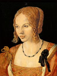 Portrait of a Young Venetian Woman, 1505 by Durer | Painting Reproduction