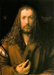 Self Portrait at 28, 1500 by Durer | Painting Reproduction
