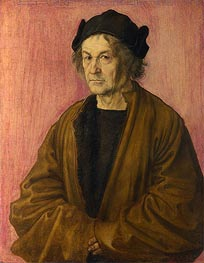 Portrait of Durer's Father at 70 | Durer | Painting Reproduction