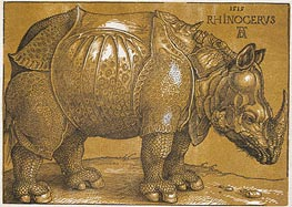 Rhinocerus, 1515 by Durer | Painting Reproduction