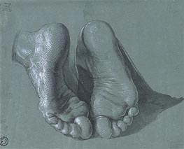 Study of Two Feet, c.1508 by Durer | Painting Reproduction