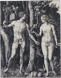 Adam and Eve, 1504 by Durer | Painting Reproduction