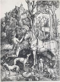 Saint Eustace, c.1500/01 by Durer | Painting Reproduction