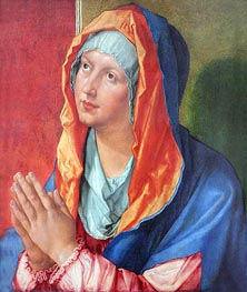 The Virgin Mary in Prayer, 1518 by Durer | Painting Reproduction