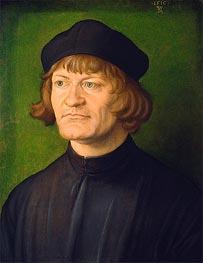 Portrait of a Clergyman (Johann Dorsch), 1516 by Durer | Painting Reproduction