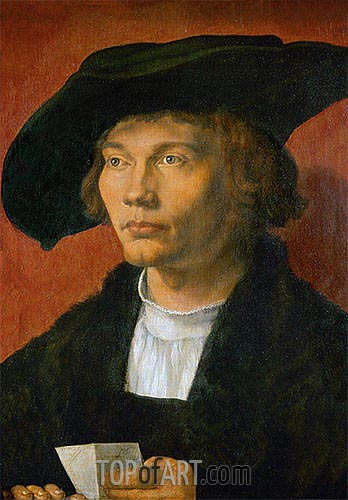 Portrait of Bernhard von Reesen, 1521 | Durer | Painting Reproduction
