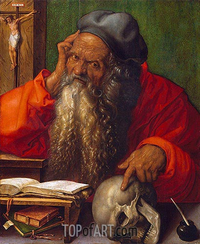 Saint Jerome, 1521 | Durer| Painting Reproduction