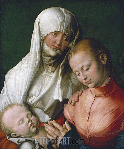 Saint Anne with the Virgin and Child, 1519 | Durer| Painting Reproduction