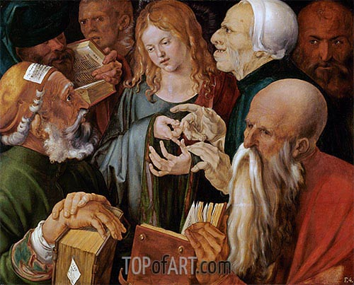 Christ Among the Doctors, 1506 | Durer| Painting Reproduction