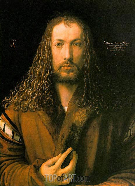 Self Portrait at 28, 1500 | Durer | Painting Reproduction