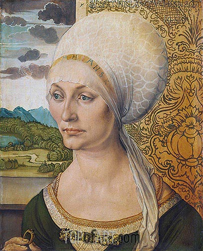 Portrait of Elsbeth Tucher, 1499 | Durer| Painting Reproduction