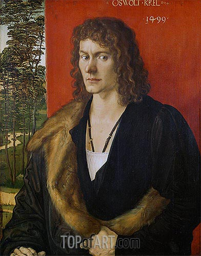 Portrait of Oswolt Krel, 1499 | Durer| Painting Reproduction