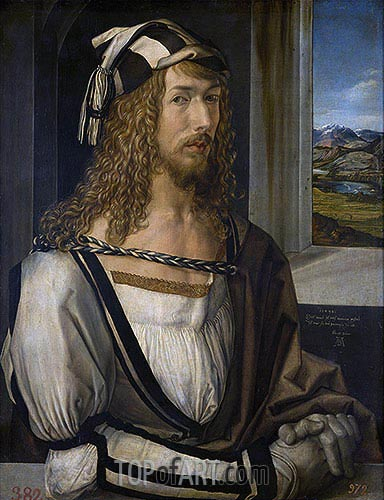 Self Portrait at 26, 1498 | Durer | Painting Reproduction