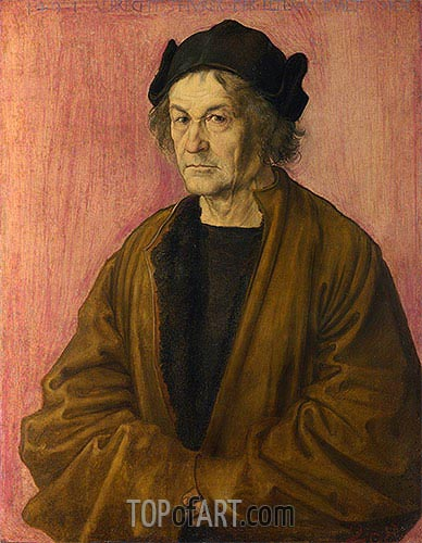 Portrait of Durer's Father at 70, 1497 | Durer| Gemälde Reproduktion