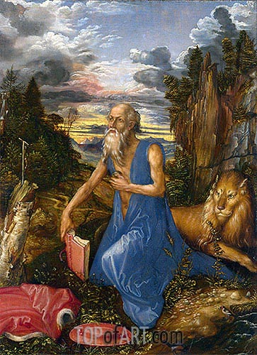 Saint Jerome in the Wilderness, c.1495 | Durer | Painting Reproduction