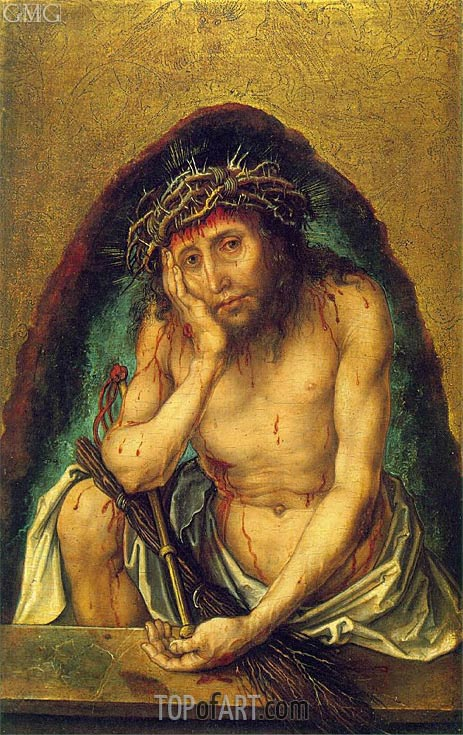 Christ as the Man of Sorrows, c.1493 | Durer | Painting Reproduction