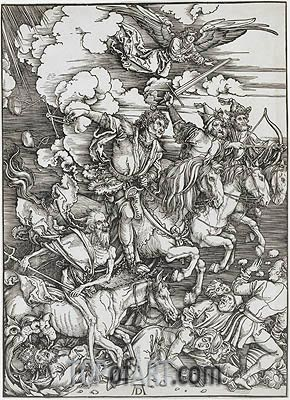 The Four Horsemen from the Apocalypse, 1498 | Durer| Painting Reproduction