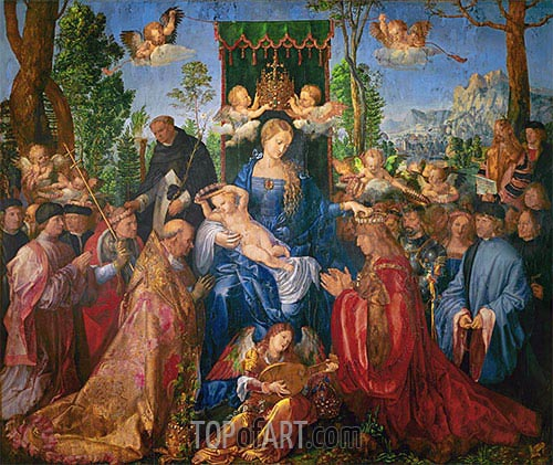Garland of Roses Altarpiece, 1506 | Durer| Painting Reproduction