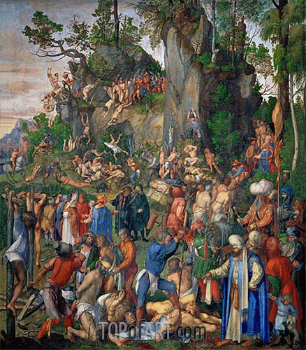 Martyrdom of the Ten Thousand Christians, 1508 | Durer | Painting Reproduction