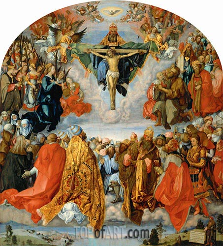 All Saints Day (The Landauer Altarpiece), 1511 | Durer| Painting Reproduction