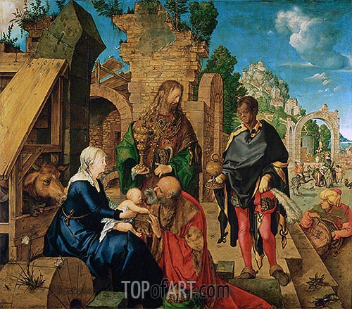 Adoration of the Magi, 1504 | Durer| Painting Reproduction