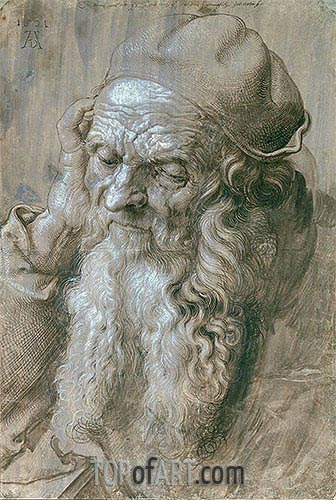 Durer | Portrait of an Old Man (Study for a Saint), 1521