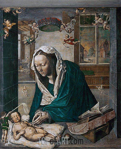 Durer | Mary Adoring the Child (Dresden Altarpiece - Central Panel), 1496