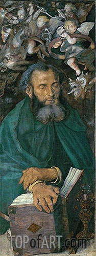 Durer | Saint Anthony (Dresden Altarpiece - Left Panel), 1496