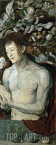 Durer | Saint Sebastian (Dresden Altarpiece - Right Panel), 1496