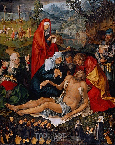 Lamentation over the Dead Christ, c.1498 | Durer | Painting Reproduction