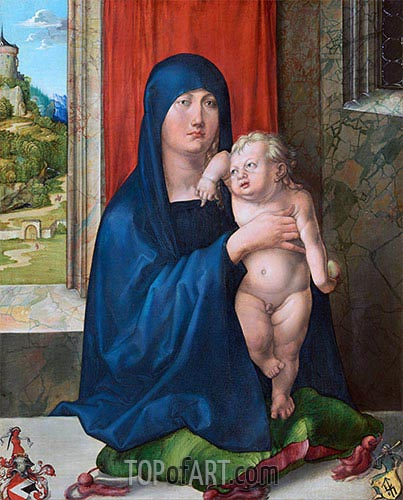 Madonna and Child (Haller Madonna), c.1496/99 | Durer| Painting Reproduction