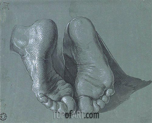 Durer | Study of Two Feet, c.1508