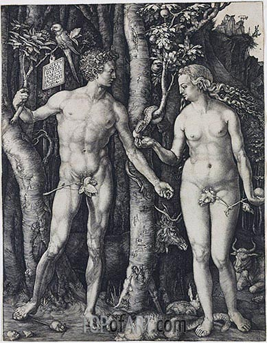 Adam and Eve, 1504 | Durer | Painting Reproduction