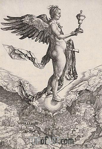 Nemesis, c.1501 | Durer | Painting Reproduction