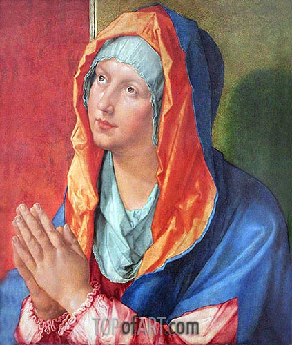 The Virgin Mary in Prayer, 1518 | Durer | Painting Reproduction