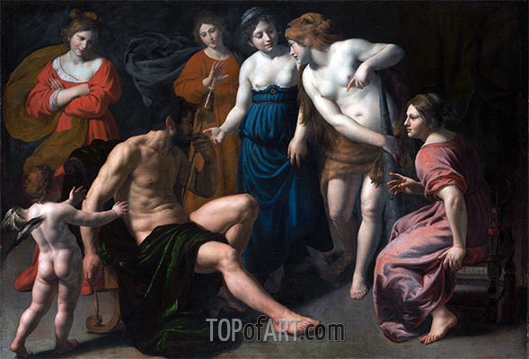 Hercules and Omphale, 1620 | Alessandro Turchi | Painting Reproduction