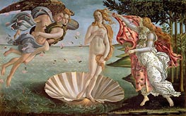 The Birth of Venus, c.1485 by Botticelli | Painting Reproduction
