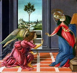 The Cestello Annunciation, c.1489 by Botticelli | Painting Reproduction