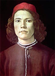 Portrait of a Young Man | Botticelli | Gemälde Reproduktion