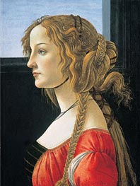 Portrait of a Young Woman, after 1480 by Botticelli | Painting Reproduction