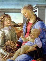 Madonna and Child with Angel | Botticelli | Painting Reproduction