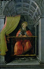Saint Augustine in his Cell | Botticelli | outdated