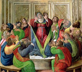 The Descent of the Holy Ghost, Undated by Botticelli | Painting Reproduction