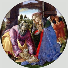 The Nativity, c.1482/85 by Botticelli | Painting Reproduction