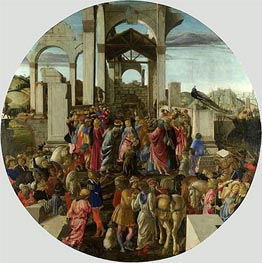 Adoration of the Kings, c.1470/75 by Botticelli | Painting Reproduction