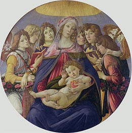 The Madonna of the Pomegranate, c.1478/79 by Botticelli | Painting Reproduction