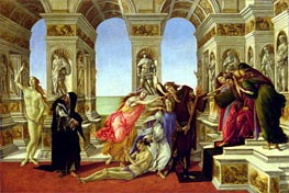 Calumny of Apelles, c.1497/98 by Botticelli | Painting Reproduction