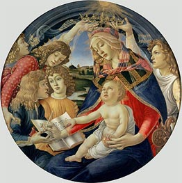 Madonna of the Magnificat, 1482 by Botticelli | Painting Reproduction